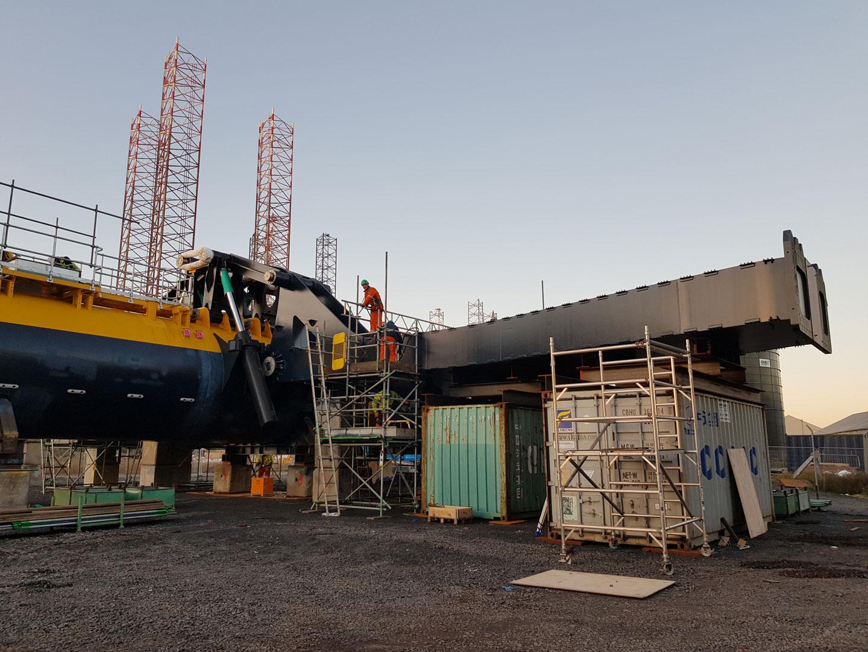 O2 Tidal Turbine Construction