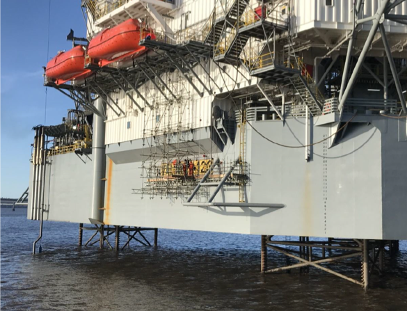 TEXO Integrity+ Rebrands Jack Up Rig In Dundee