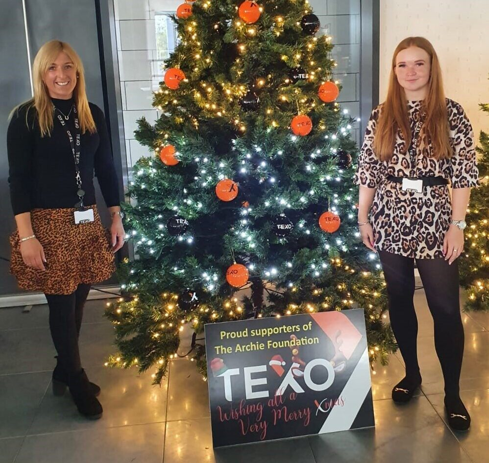 TEXO Supports The Archie Foundation With Christmas Tree Display & Auction